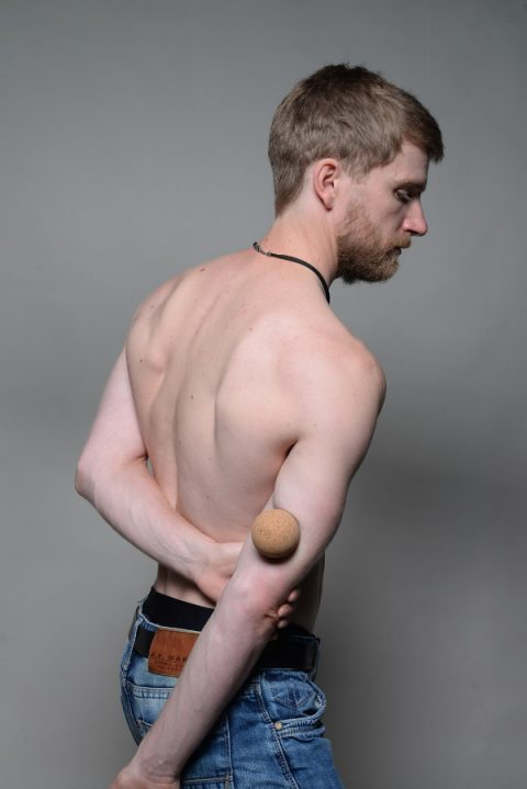 Muscle pain in upper right arm between elbow and shoulder